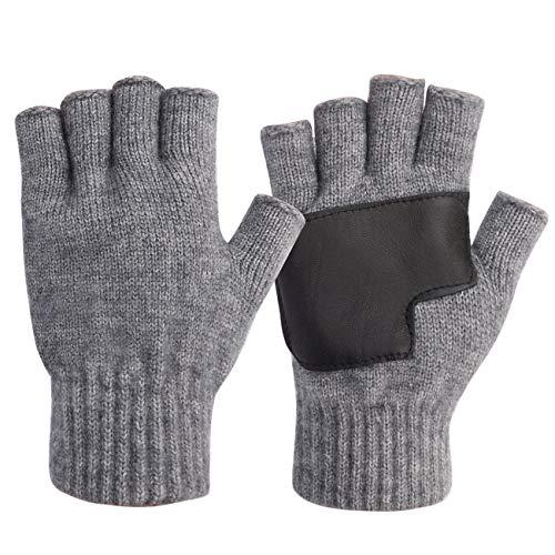 guanti senza dita uomo Maylisacc Guanti Mezze Dita Uomo Invernali