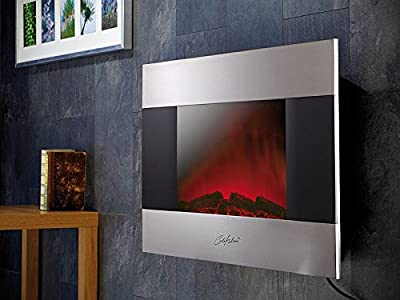 Edler Elektrokamin für Wand und Standmontage, 90x56 cm von Carlo Milano auf Heizstrahler Onlineshop