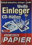 Weiße Einleger ( Bodenteil / CD-Deckel ) für CD-Hüllen. Geeignet für: Laser-Druck, Tintenstrahl-Drucker.