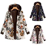 TITAP S-5XL Winter Coat Women Warm Outwear Floral Print Hooded Pockets Vintage 2018 New Female Button Jacket Womens Outwear Plus Size