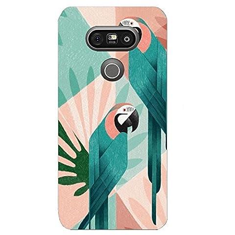 Coque Lg 70 - Coque LG G6 perroquet pastel exotique tropical
