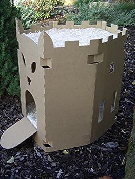 Arteco-4pfoten.de Niche pour chat en carton en forme de forteresse