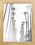 PF&A Cadre Photo chêne Effet Bois Brun Oxford A5 / 14,8 x 21 cm - Vitre en Verre - Portrait & Paysage