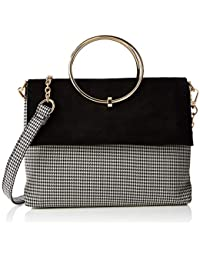 fa4a716ccc New Look Womens Dogtooth Matilda Cross-Body Bag Black (Black Pattern)