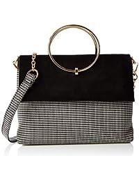 4ecb0525b5f2 New Look Womens Dogtooth Matilda Cross-Body Bag Black (Black Pattern)