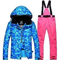 Jiuyizhe Chaqueta de esquí Impermeable para la montaña Chaqueta de esquí Impermeable para el Viento para Mujer y Hombre (Color : 09, Size : XXL)