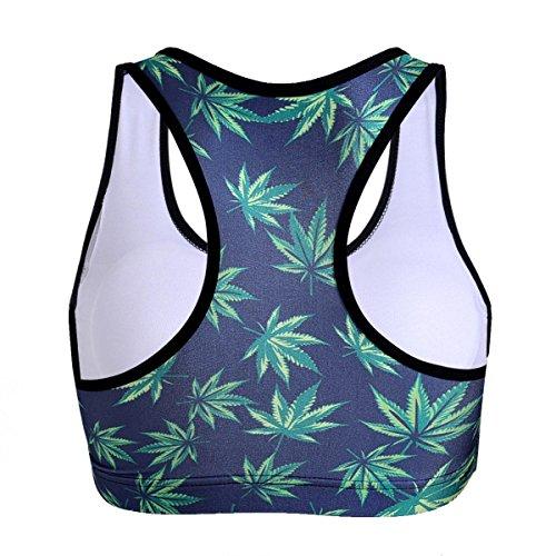 WKAIJCC Femme Gilet Sport Soutien-gorge Sous-vêtements Sans Anneau En Acier Sans Trace Camouflage Numérique Imprimé Yoga C