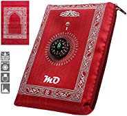 MOlecule Pocket Prayer Mat - Muslim Portable Praying Rug for Mosque, Home, Office - Best Gift,Compass, Waterpr
