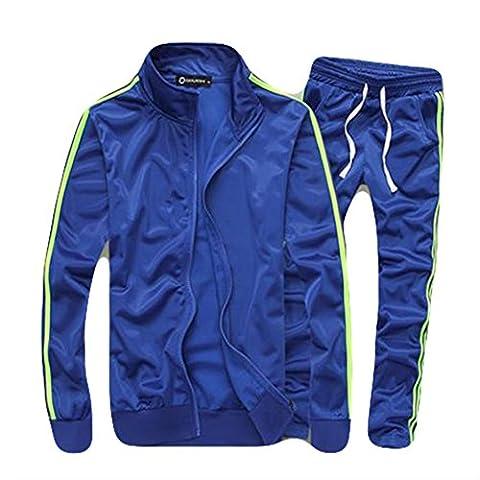 Ensemble de Sport Survêtement Pantalon de Sport Sweat Shirt Zippé Hommes Nouveau Modèle Jogging Survêtement