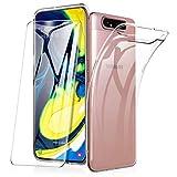 HOUROC Samsung A80 Cover + Vetro Temperato, Samsung Galaxy A80 Trasparente Cover Ultra Morbido...