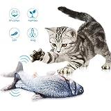 Petyoung Kat Catnip Speelgoed Simulatie Elektrische Pop Vis Realistische Pluche Interactieve Huisdieren Kauwen Bijt Benodigdheden Voor Kat/Kitty/Kitten Vis Flop Kattenspeelgoed - Perfect Voor Bijten