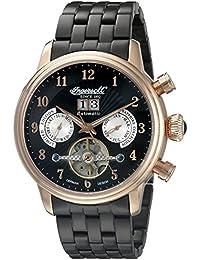 Ingersoll Herren-Armbanduhr Chronograph Automatik Edelstahl Schwarz IN1510RBKM