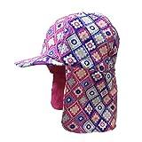 Cappello estivo per bambini, UPF 50+ Cappellino da legionario protezione solare per ragazze e ragazzi di 3-15 anni (Rosa Box, 52CM)