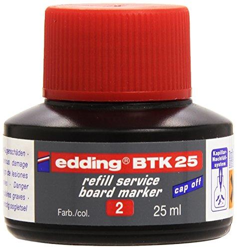 edding BTK25 Whiteboardmarker Nachfülltinte - Inhalt: 25ml - Farbe: rot - Tusche für...