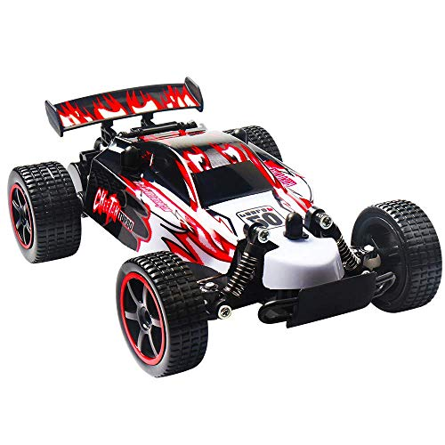 TDW RC Auto, HaoTong 2,4 GHz Ferngesteuerter Auto Geländewagen 2WD, High Speed 1:18 Rennwagen für Kinder und Erwachsene (red)