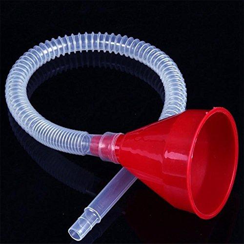 RUNGAO Einfülltrichter aus Kunststoff mit weichem Schlauch, fürs Eingießen von Benzin oder Öl ins Auto, Motorrad, Lastwagen oder andere Fahrzeuge