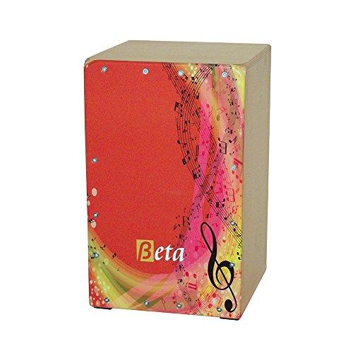 Cajón flamenco Beta mod. 'NOTAS' - Tamaño cadete (niños) - Caja de percusión 100% abedul