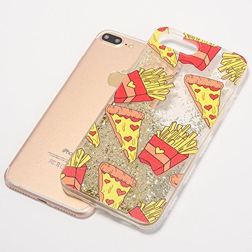 iPhone 7 Plus 5.5 Hülle, Voguecase Silikon Schutzhülle / Case / Cover / Hülle / TPU Gel Skin für Apple iPhone 7 Plus 5.5(Perlen Treibsand - MISS BOSS - Gold) + Gratis Universal Eingabestift Perlen Treibsand-Pommes -Gold
