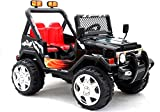 BSD Elektro Kinderauto Elektrisch Ride On Kinderfahrzeug Elektroauto Fernbedienung - Raptor 2x45W 2-Sitzer - Schwarz