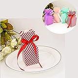 JZK 50 Stile vaso rosso scatola portaconfetti scatolina portariso bomboniera segnaposto per matrimonio compleanno Natale laurea battesimo nascita