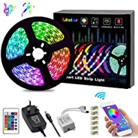 LED Strips Lights, L8star Color Changing Rope Lights 16.4ft(5m) SMD 5050 RGB Lights Strips Sync with Music Apply for TV, Bedroom, Party and Home Decoration (16.4ft)