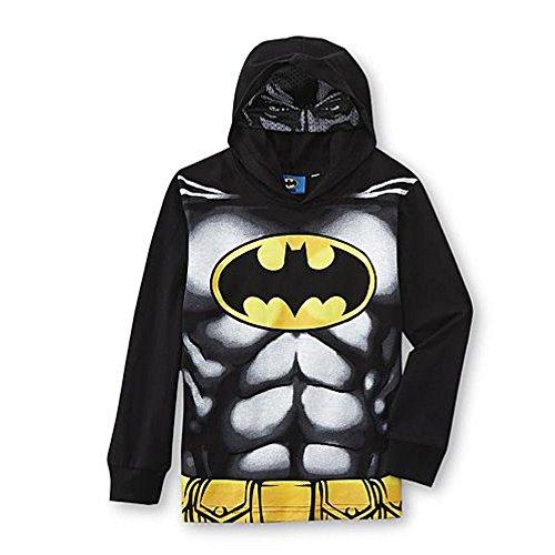 Batman bambini ragazzi maglia a maniche lunghe con cappuccio occhi maschere Bat Man Kids schwarz grau gelb 104