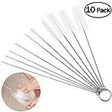 OUNONA Schlauchbürste Set Nylon Reinigungsbürsten Drahtrohr Werkzeug für Reagenzgläser Reinigen,Multifunktional (Pack of 10) (Weiß)