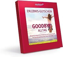 mydays Erlebnis-Gutschein Goodbye Alltag   50 Erlebnisse an über 330 Orte   Inklusive Geschenkbox