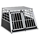 Homcom Cage de Transport pour Chien en Aluminium XXL 104L x 91l x 69H cm Noir