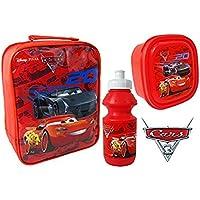 Disney Pixar Cars Lunch-Tasche Kit–inklusive Trinkflasche, Pausenbrotbox Tasche mit Vorderseite aus PVC und sichtbarer Rückseite Cover preisvergleich bei kinderzimmerdekopreise.eu