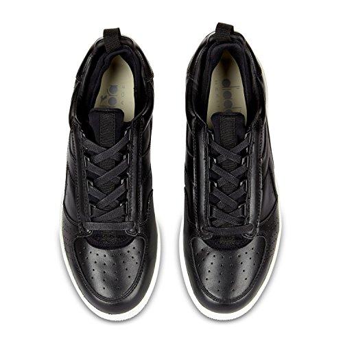 Diadora Heritage, Hombre, B Elite Calcetines Negro, Cuero, Sneakers, Negro C0200 - Black-black