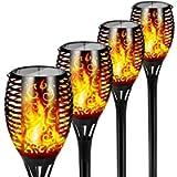 FLOWood Solar Torch Lights Waterproof Dancing Flickering Flame Solar Lights 51 LED Landscape Decoration Lighting Dusk to…