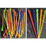 Artif - Lote de 100 palillos decorativos para comida, (plástico, 8 cm), colores surtidos
