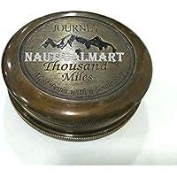 Nauticalmart Brown Antique Journey Thousand Miles Compass