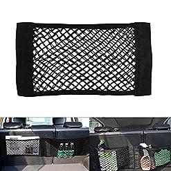 Konesky Organizer in Rete portaoggetti Tronco Mesh Storage Bag Organizer Backseat Tasche in Rete Nero Nero Confezione da 2