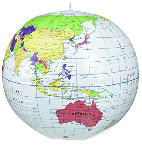 Learning Resources LER2432 Aufblasbarer Globus, ohne Beleuchtung