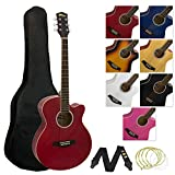 Tiger Music Kit de guitare acoustique petit corps, rouge