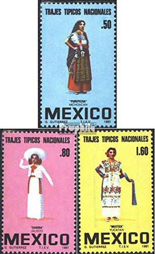 Prophila Collection Mexiko 1744-1746 (kompl.Ausg.) 1981 Mexikanische Trachten (Briefmarken für Sammler) Uniformen / (Trachten Von Mexiko)