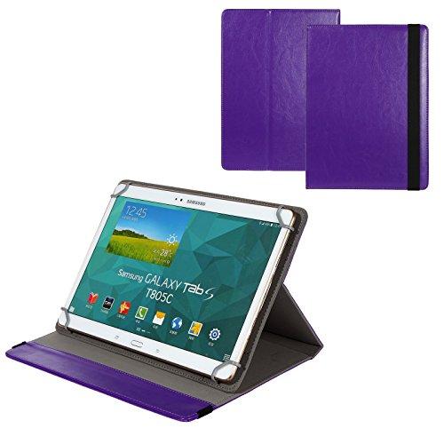 BRALEXX Universal 10 Zoll Tablet Tasche passend für Odys Wintab 9 plus 3G, Lila