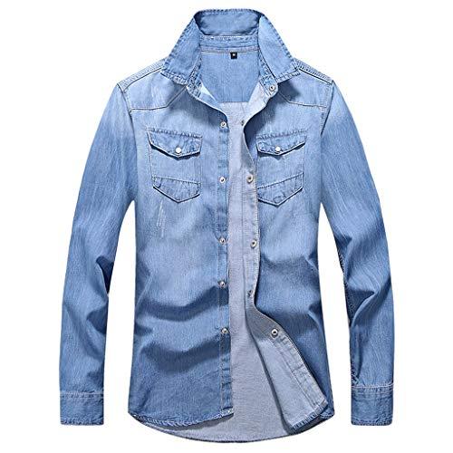 Yazidan Herren Jeansjacke Basic Stretch Jeans Jacke mit Stehkragen Übergangsjacke Hoodie Sweatjacke Freizeitjacke Sommerjacke Kapuzenpullover Pullover Slim Fit