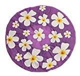 Duschhaube Lila Shower Cap Blumen-Motiv