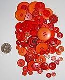 Verschiedene Farben und Größen, rund, schlicht Tasten für Nähen und,, Rot / Orange