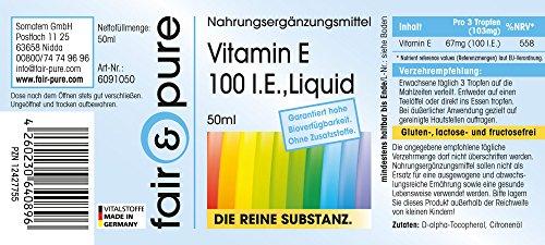 Natürliches Vitamin E Öl 100 I.E. als D-Alpha-Tocopherol mit Zitronenöl – vegan – 50ml – Vitamin E Tropfen – zur inneren und äußeren Anwendung