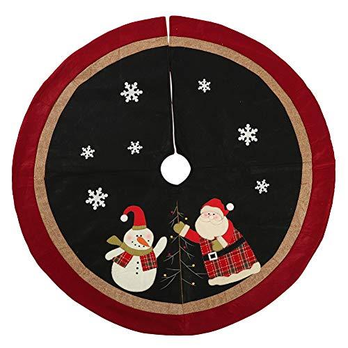 Falda árbol Navidad Papá Noel grande Impreso Árbol