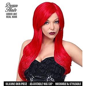 WIDMANN 02108Alicia Cosplay Dream Hair peluca, mujer, color rojo