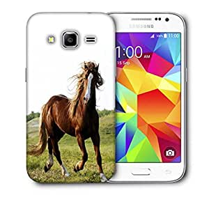 Snoogg Running Horses Printed Protective Phone Back Case Cover for Samsung Galaxy Core Plus G3500