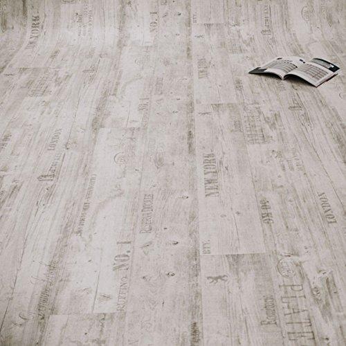 PVC Bodenbelag Rustikal Hell mit Aufdruck Breite 4 m 9,95 € p. m²