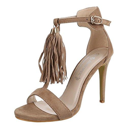 Ital-Design , Sandales femme Marron - Brown - Light brown