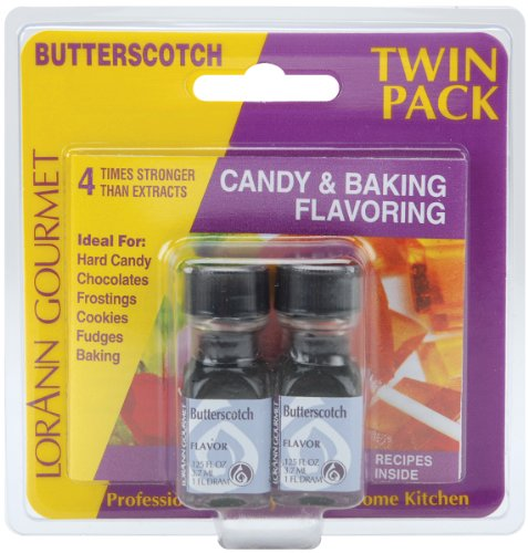 LorAnn Candy & Baking Flavoring .125oz 2/Pkg-Butterscotch -