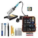 Ansenesna Lötkolben Elektronik Set 60W Mit Einstellbarer Temperatur Elektronische Schweiß Bügel Werkzeug (UK 220V)